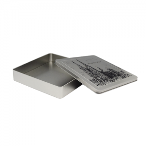 TW433 002 300x300 - Metal Square Tin Box With Hinged Lid For Candy Packaging