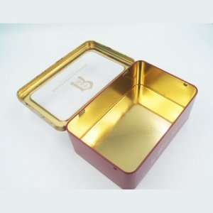 rectangle tin box with window2 300x300 - Rectangular Metal Tins With Clear Lids For Cosmetic Storage