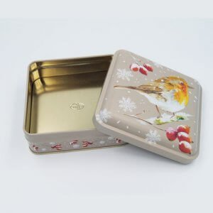 square small chocolate tin packaging1 300x300 - Small Square Aluminum Tin Containers For Candies Or Biscuits
